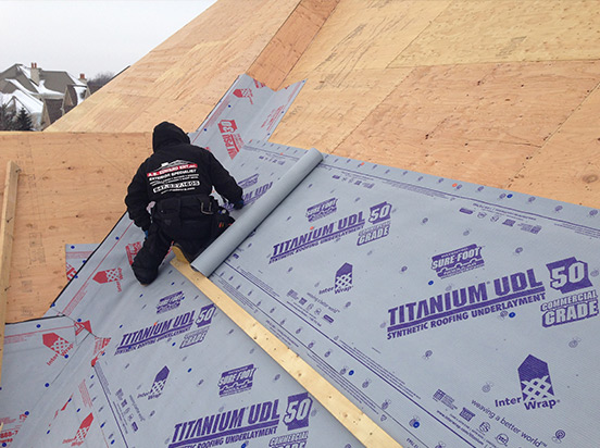 synthetic underlay roofing shingle