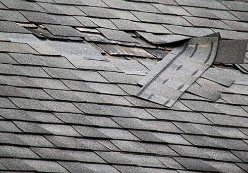 roof shingle blow off